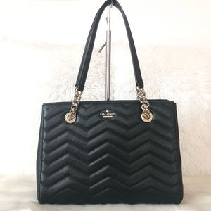 ⭐️Kate Spade Black Leather Tote